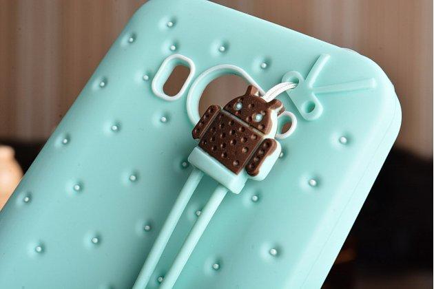 """Фирменная необычная уникальная полимерная мягкая задняя панель-чехол-накладка для Xiaomi mi2s """"тематика Андроид в мятном шоколаде"""""""