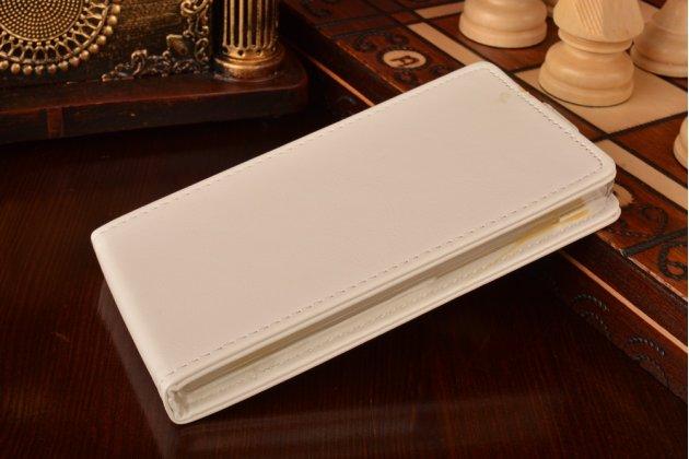 """Фирменный оригинальный вертикальный откидной чехол-флип для Xiaomi Red Rice 1S белый из качественной импортной кожи """"Prestige"""" Италия"""