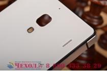 Фирменная металлическая задняя панель-крышка-накладка из тончайшего облегченного авиационного алюминия для Xiaomi Red Rice 1S белая