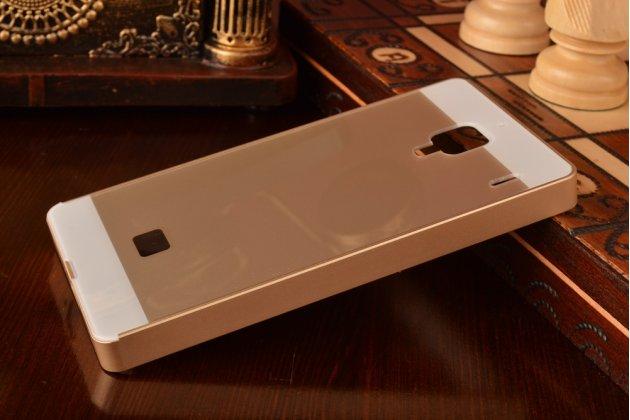 Фирменная металлическая задняя панель-крышка-накладка из тончайшего облегченного авиационного алюминия для Xiaomi Red Rice/Red Rice 1S золотая