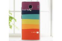 """Фирменная необычная из легчайшего и тончайшего пластика задняя панель-чехол-накладка для Xiaomi Red Rice/Red Rice 1S  """"тематика Все цвета Радуги"""""""