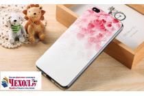 """Фирменная уникальная задняя панель-крышка-накладка из тончайшего силикона для Xiaomi Mi 5C с объёмным 3D рисунком тематика """"Сердечки"""""""