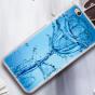 """Фирменная уникальная задняя панель-крышка-накладка из тончайшего силикона для Xiaomi Mi 5C с объёмным 3D рисунком тематика """"водяная роза"""""""