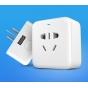 Фирменная умная беспроводная Wi-Fi розетка XiaoMi Smart Socket с USB-разъёмом и переходником для нашей розетки..