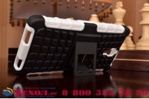 Противоударный усиленный ударопрочный фирменный чехол-бампер-пенал для Xiaomi Mi4 белый