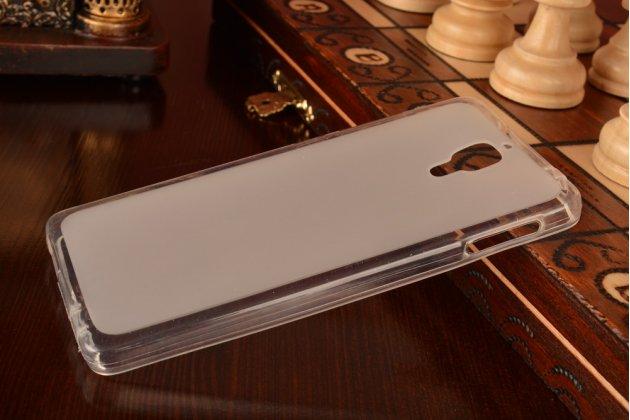Фирменный водоотталкивающий ультратонкий силиконовый  чехол-книжка для Xiaomi Mi4  White