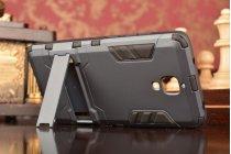 Противоударный усиленный ударопрочный фирменный чехол-бампер-пенал для Xiaomi Mi4 черный