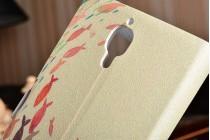 """Фирменный чехол-книжка красивым узором тематика """"Рыбки"""" на Xiaomi Mi4  с окошком для звонков"""