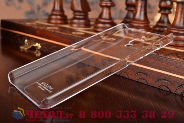 Фирменная задняя панель-крышка-накладка из тончайшего и прочного пластика для Xiaomi Mi4 прозрачная