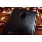 """Фирменный оригинальный вертикальный откидной чехол-флип для Xiaomi Mi4 черный кожаный """"Prestige"""" Италия"""