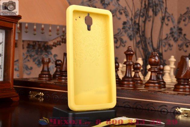 """Фирменная необычная уникальная полимерная мягкая задняя панель-чехол-накладка для Xiaomi Mi4 """"тематика Андроид в ванильном  Шоколаде"""""""