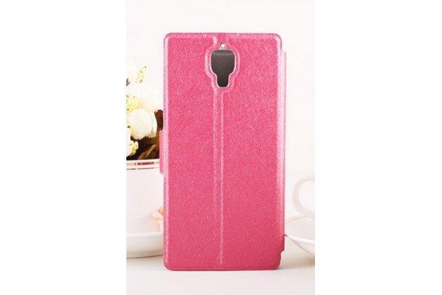 Фирменный роскошный чехол-книжка безумно красивый декорированный бусинками и кристаликами на Xiaomi Mi4 розовый