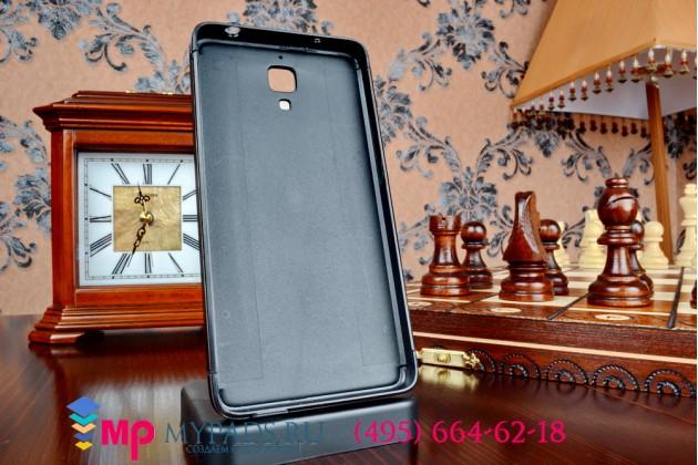 Фирменная металлическая задняя панель-крышка-накладка из тончайшего облегченного авиационного алюминия для Xiaomi Mi4 черная