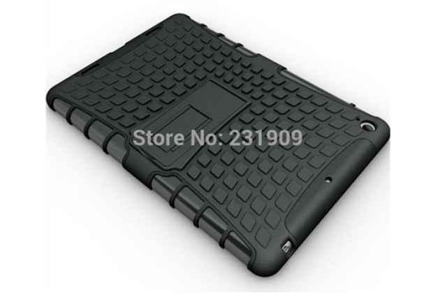 Противоударный усиленный ударопрочный фирменный чехол-бампер-пенал для Xiaomi MiPad черный