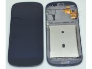 Фирменный передний LCD-ЖК-сенсорный дисплей-экран-стекло с тачскрином на телефон Yota YotaPhone 2 черный..
