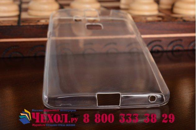 Фирменная ультра-тонкая полимерная из мягкого качественного силикона задняя панель-чехол-накладка для ZTE AXON 7/ Axon 2 (A2015) 5.5 прозрачная