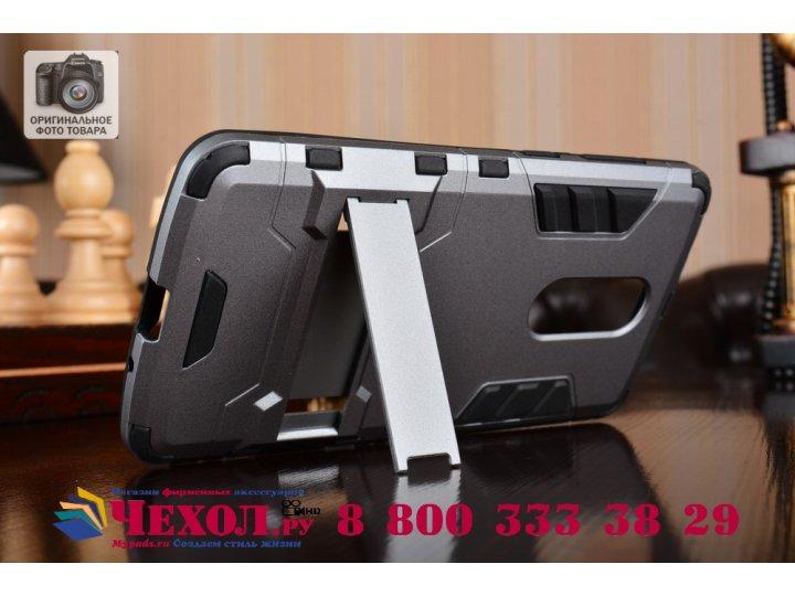 Противоударный усиленный ударопрочный фирменный чехол-бампер-пенал для ZTE Axon 7 Mini