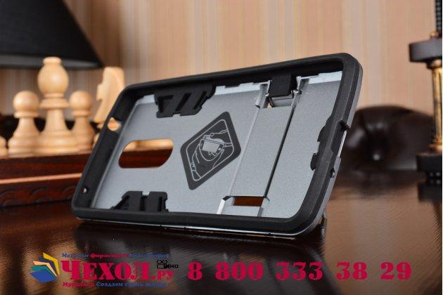 """Противоударный усиленный ударопрочный фирменный чехол-бампер-пенал для ZTE Axon 7 Mini"""" серый"""