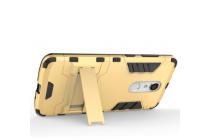 """Противоударный усиленный ударопрочный фирменный чехол-бампер-пенал для ZTE Axon 7 Mini"""" золотой"""