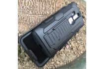 """Противоударный усиленный ударопрочный фирменный чехол-бампер-пенал для ZTE AXON Pro 5.5""""(5200) черный"""