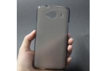 Фирменная ультра-тонкая полимерная из мягкого качественного силикона задняя панель-чехол-накладка для ZTE Blade L370  серая