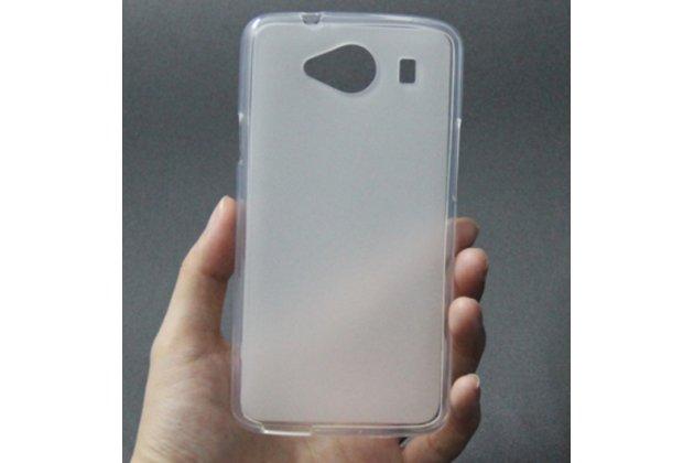 Фирменная ультра-тонкая полимерная из мягкого качественного силикона задняя панель-чехол-накладка для ZTE Blade L370 белая