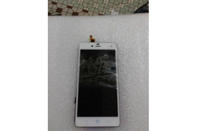 """Фирменный LCD-ЖК-сенсорный дисплей-экран-стекло с тачскрином на телефон ZTE Blade A476 5.0""""  белый"""