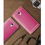 Фирменная премиальная элитная крышка-накладка на ZTE Blade A510 розовая из качественного силикона с дизайном п..