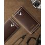 Фирменная премиальная элитная крышка-накладка на ZTE Blade A510 коричневая из качественного силикона с дизайно..