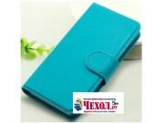Фирменный чехол-книжка из качественной импортной кожи с подставкой застёжкой и визитницей для ZTE Blade A520 5..