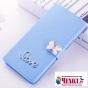 Фирменный роскошный чехол-книжка безумно красивый декорированный бусинками и кристаликами на ZTE Blade A520 5...