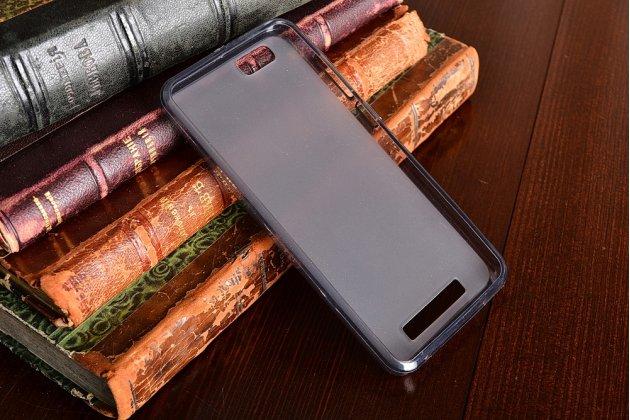 Фирменная ультра-тонкая полимерная из мягкого качественного силикона задняя панель-чехол-накладка для ZTE Blade A610 / BA610T  5.0 серая