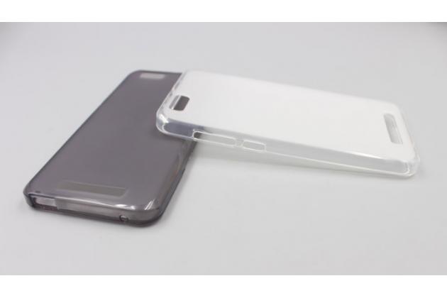 Фирменная ультра-тонкая силиконовая задняя панель-чехол-накладка для ZTE Blade A610 / BA610T 5.0 белая
