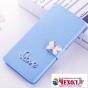 Фирменный роскошный чехол-книжка безумно красивый декорированный бусинками и кристаликами на ZTE Blade A610c 5..