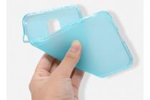Фирменная ультра-тонкая силиконовая задняя панель-чехол-накладка для ZTE Blade A910 / BA910 5.5 голубая