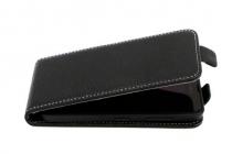 """Фирменный вертикальный откидной чехол-флип для ZTE Blade GF3 4.5""""  черный"""