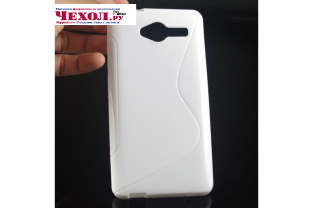 Фирменная ультра-тонкая полимерная из мягкого качественного силикона задняя панель-чехол-накладка для ZTE Blade L3 белая