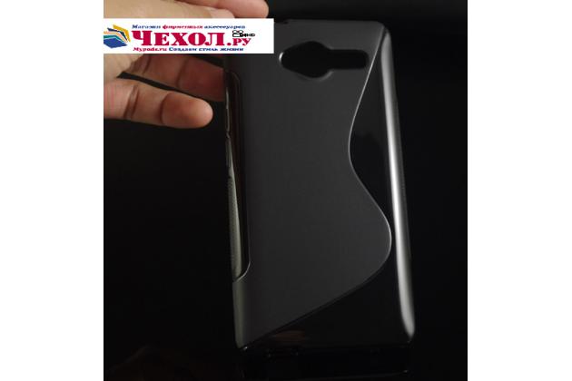 Фирменная ультра-тонкая полимерная из мягкого качественного силикона задняя панель-чехол-накладка для ZTE Blade L3 черный