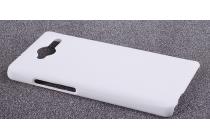 Фирменная задняя панель-крышка-накладка из тончайшего и прочного пластика для ZTE Blade L3 белая