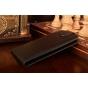 """Фирменный оригинальный вертикальный откидной чехол-флип для ZTE Blade L4/ L4 Pro (A460) 5.0"""" черный кожаный """"Prestige"""" Италия"""