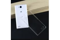 Фирменная задняя панель-крышка-накладка из тончайшего и прочного пластика для  ZTE Blade Q Lux 3G/ Q Lux 4G (A430)  прозрачная