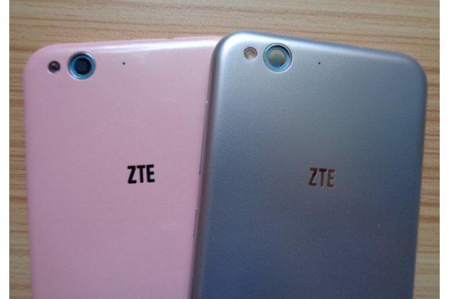 """Родная оригинальная задняя крышка-панель которая шла в комплекте для ZTE Blade S6 /Q5 5,0"""" (G717C/ G718C) серебристая"""