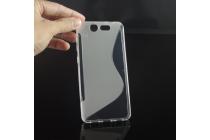 """Фирменная ультра-тонкая полимерная из мягкого качественного силикона задняя панель-чехол-накладка для ZTE Blade S7 5.0"""" серая"""