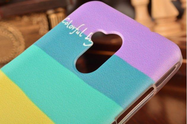 """Фирменная ультра-тонкая полимерная из мягкого качественного силикона задняя панель-чехол-накладка для ZTE Blade V7 Lite 5.0""""  тематика """"все цвета радуги"""""""