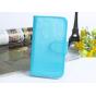 Фирменный чехол-книжка из качественной импортной кожи с подставкой застёжкой и визитницей для ZTE Blade V8 Pro..