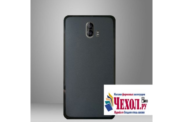 """Фирменная ультра-тонкая полимерная из мягкого качественного силикона задняя панель-чехол-накладка для ZTE Blade V8 Pro"""" черная"""