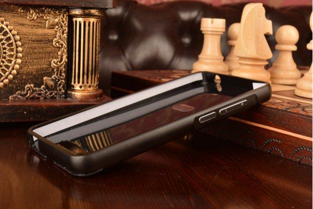 Фирменная металлическая задняя панель-крышка-накладка из тончайшего облегченного авиационного алюминия для ZTE Blade X3/ZTE Blade D2 5.0 черная