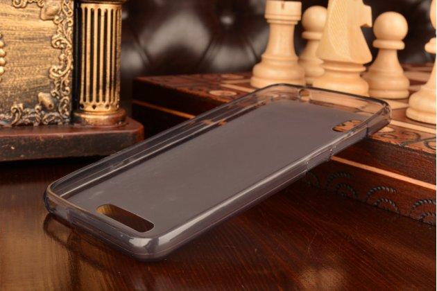Фирменная ультра-тонкая полимерная из мягкого качественного силикона задняя панель-чехол-накладка для ZTE Blade X3/ZTE Blade D2  5.0 черная