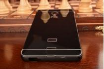 Фирменная металлическая задняя панель-крышка-накладка из тончайшего облегченного авиационного алюминия для ZTE Blade X9  черная