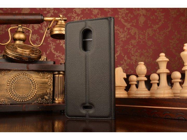 Фирменный чехол-книжка из качественной импортной кожи с подставкой застёжкой и визитницей для ZTE Blade X9 5.5..